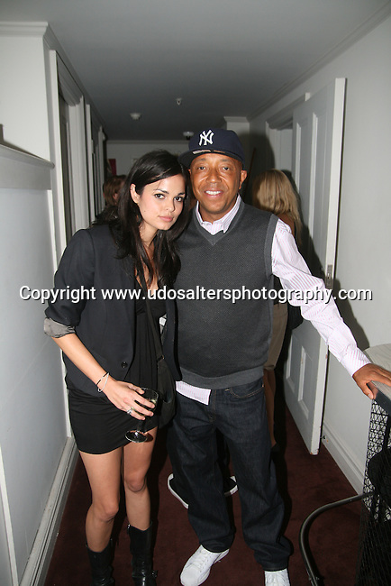 Lina Esco and Russell Simmons attend screening of The Cove hosted by Russell Simmons at Norwood Club, New York Photo by Derrick Salters