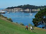 golfers at Pebble Beach