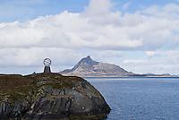 monument marking border of arctic circle, Norway