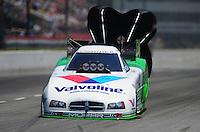 May 5, 2012; Commerce, GA, USA: NHRA funny car driver Jack Beckman during qualifying for the Southern Nationals at Atlanta Dragway. Mandatory Credit: Mark J. Rebilas-