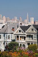 Victorian homes near Alamo Square Park, San Francisco, California