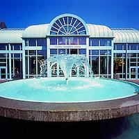 Victoria Conference Centre, Victoria, BC, Vancouver Island, British Columbia, Canada - Fountain on Plaza