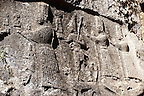 Picture of Yazilikaya [ i.e written riock ], Hattusa  The largest known Hittite sanctuary. 13th century BC made in the reign of Tudhaliya 1V . 4