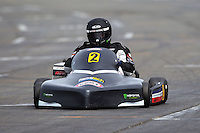 Karl Cameron, 2, races in the Rotax Heavy class during the 2012 Superkart National Champs and Grand Prix at Manfeild in Feilding, New Zealand on Saturday, 7 January 2011. Credit: Hagen Hopkins.