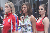 NEW YORK, NY-August 11: Paula Faris, McKayla Maroney, Rachel Smith at Good Morning America go for GMA Games Gold in New York. NY August 11, 2016. Credit:RW/MediaPunch
