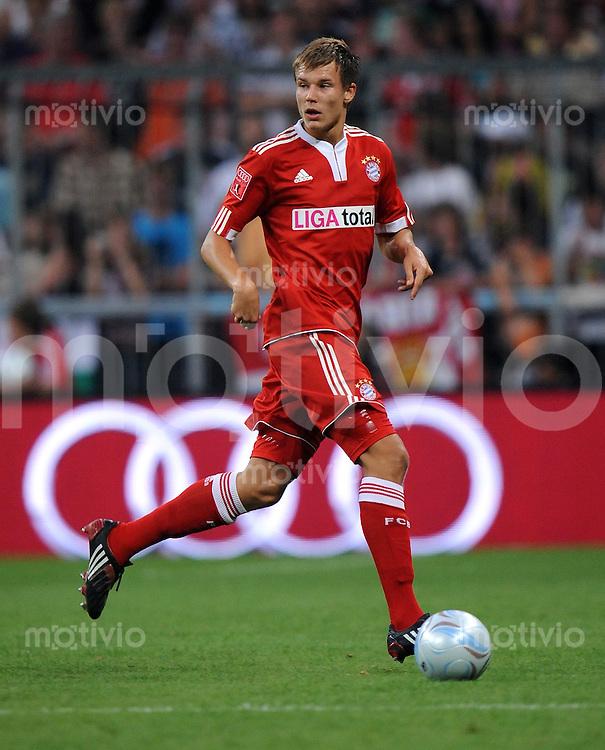Fussball  International   Audi Cup 2009   29.07.2009 FC Bayern Muenchen - AC Mailand  Holger Badstuber (FCB)