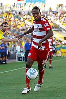 28 AUGUST 2010:  FC Dallas' Atiba Harris (16) during MLS soccer game between FC Dallas vs Columbus Crew at Crew Stadium in Columbus, Ohio on August 28, 2010.