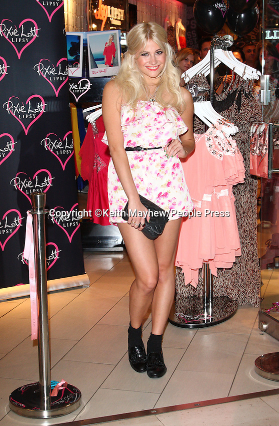 London - Pixie Lott launches her new Spring/Summer range of clothing at Lipsy, Westfield Shopping Centre, London - May 24th 2011..Photo by Keith Mayhew