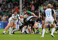 Twickenham, GREAT BRITAIN, Exiles new signing,  Alfredo LALANNE, passes the ball out from the back of the scrum,  during the EDF Energy Cup rugby match,  Harlequins vs London Irish, at Twickenham Stoop, Surrey on Sat 25.10.2008 [Photo, Peter Spurrier/Intersport-images]