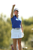 Apr. 2, 2006; Rancho Mirage, CA, USA; Rookie Morgan Pressel checks the wind on the 5th tee box during the final round of the Kraft Nabisco Championship at Mission Hills Country Club. ..Mandatory Photo Credit: Darrell Miho.Copyright © 2006 Darrell Miho .