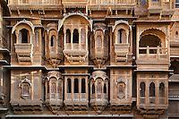 Detail of facade, Patwon ki Haveli, Rajasthan, India
