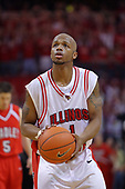 "31 January 2009: Emmanuel Holloway. The Illinois State University Redbirds join the Bradley Braves in a tie for 2nd place in ""The Valley"" with a 69-65 win on Doug Collins Court inside Redbird Arena on the campus of Illinois State University in Normal Illinois"