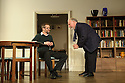 London, UK. 02.10.2015. THE FATHER, written by Florian Zeller, in a new translation by Christopher Hampton, opens at Wyndham's Theatre. Directed by James Macdonald, with lighting design by Guy Hoare, and set and costume design by Miriam Buether. Picture shows: Jim Sturgeon (Man), Kenneth Cranham (Andre). Photograph © Jane Hobson.