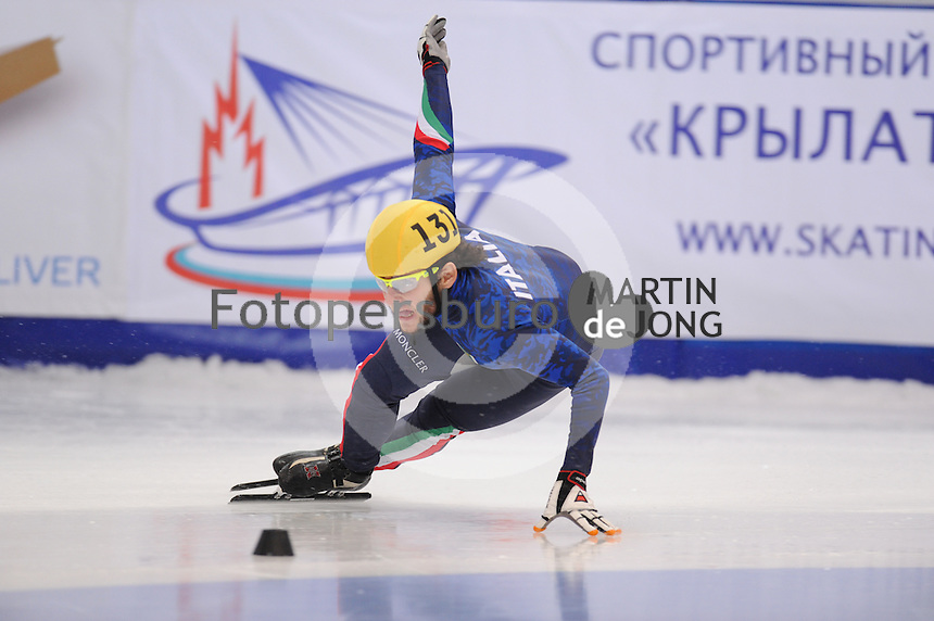 "SHORT TRACK: MOSCOW: Speed Skating Centre ""Krylatskoe"", 14-03-2015, ISU World Short Track Speed Skating Championships 2015, Ranking Races, Yuri CONFORTOLA (#131 | ITA), ©photo Martin de Jong"