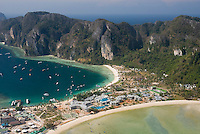 Koh Phi Phi, Thailand, March 2007. An aerial view of ko Phi Phi. The island resorts were destroyed in the Tsunami and have now been rebuilt.  Photo by Frits Meyst/Adventure4ever.com