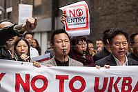 """22.10.2013 - """"Say No to UKBA Fishing Raids"""" in Chinatown"""