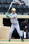 WAKE FOREST, NC - APRIL 15: Notre Dame's Nick Podkul. The Wake Forest Demon Deacons hosted the University of Notre Dame Fighting Irish on April 15, 2017, at David F. Couch Ballpark in Wake Forest, NC in a Division I College Baseball game. Wake Forest won the game 13-7.