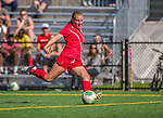 29 September 2013: Stony Brook University Seawolves Defender Stella Norman, a Sophomore from Lakewood, CO, in action against the University of Vermont Catamounts at Virtue Field in Burlington, Vermont. The Lady Seawolves defeated the Catamounts 2-1 in America East play. Mandatory Credit: Ed Wolfstein Photo *** RAW (NEF) Image File Available ***