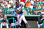 13 March 2010: Atlanta Braves' infielder Yunel Escobar in action during a Spring Training game against the Toronto Blue Jays at Champion Stadium in the ESPN Wide World of Sports Complex in Orlando, Florida. The Blue Jays shut out the Braves 3-0 in Grapefruit League action. Mandatory Credit: Ed Wolfstein Photo