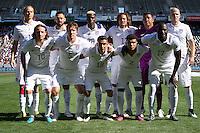 Carson, Calif. - Sunday, February 8, 2015: The USMNT starting XI. The USMNT defeated Panama 2-0 in an international friendly at StubHub Center.