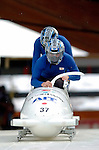 19 November 2005: Suguru Kiyokawa pilots the Japan 1 sled to a 28th place finish at the 2005 FIBT AIT World Cup Men's 2-Man Bobsleigh Tour at the Verizon Sports Complex, in Lake Placid, NY. Mandatory Photo Credit: Ed Wolfstein.