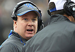 UK head coach Mark Stoops during the first half of the University of Kentucky vs. Vanderbilt University football game at Vanderbilt Stadium in Nashville, Tenn., on Saturday, November 16, 2013. Vanderbilt won 22-6. Photo by Tessa Lighty | Staff