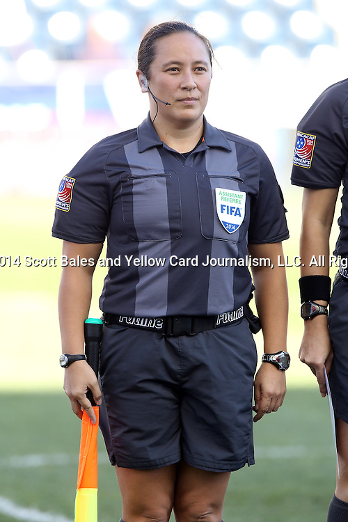 26 October 2014: Assistant referee Marlene Duffy (USA). The Trinidad & Tobago Women's National Team played the Mexico Women's National Team at PPL Park in Chester, Pennsylvania in the 2014 CONCACAF Women's Championship Third Place game. Mexico won the game 4-2 after extra time. With the win, Mexico qualified for next year's Women's World Cup in Canada and Trinidad & Tobago face playoff for spot against Ecuador.
