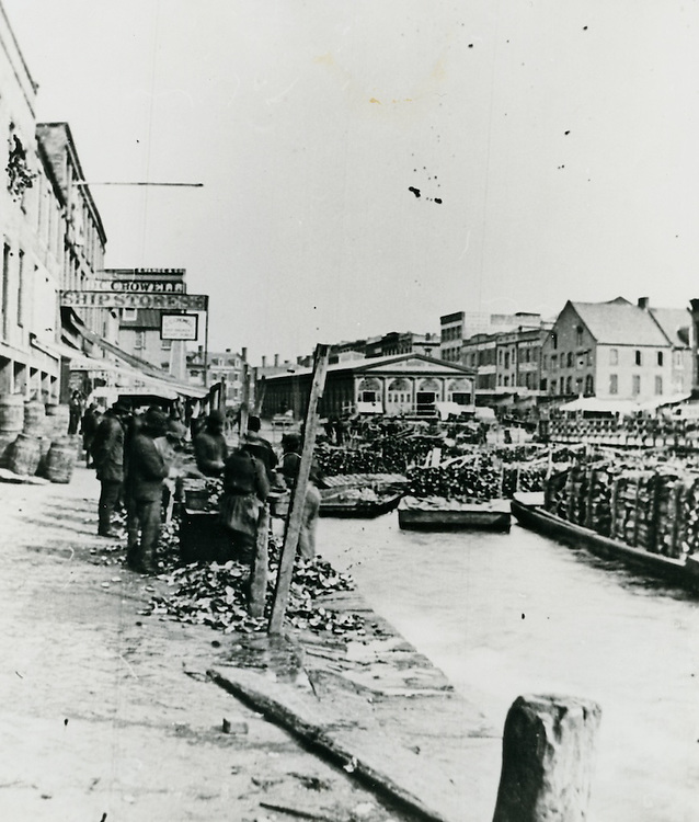 1875 ..Historical..Oyster Dock - once the center for ship stores and imported goods...NEG#.NRHA# 3604..