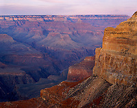 Grand Canyon National Park, AZ   <br /> Painted colors in pre-dawn light from Hopi Point