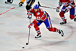 20 December 2008: Montreal Canadiens' defenseman Roman Hamrlik from the Czech Republic in action against the Buffalo Sabres during the first period at the Bell Centre in Montreal, Quebec, Canada. With both teams coming off wins, the Canadiens extended their winning streak by defeating the Sabres 4-3 in overtime. ***** Editorial Sales Only ***** Mandatory Photo Credit: Ed Wolfstein Photo