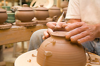 Shaping a clay pot, Ceramic Studio, Wheaton Arts and Cultural Center, Millville, New Jersey