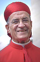 Cardinal. Béchara Boutros Raï .Pope Francis,during a consistory for the creation of new Cardinals at St. Peter's Basilica in Vatican.February 14, 2015