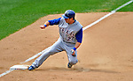 22 June 2008: Texas Rangers' left fielder Frank Catalanotto slides into third base in the 8th inning against the Washington Nationals at Nationals Park in Washington, DC. The Rangers defeated the Nationals 5-3 in the final game of their 3-game inter-league series...Mandatory Photo Credit: Ed Wolfstein Photo
