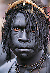 Portrait of Bomai warrior, Papua New Guinea