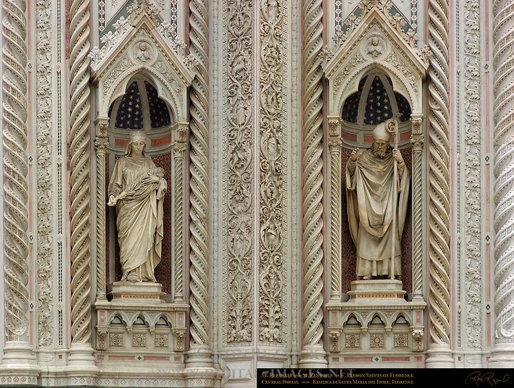 St Reparata Amalia Dupre St Zenobius Patron Saints of Florence Main Portal Santa Maria del Fiore Florence