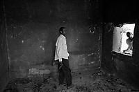 Western Sudan, June 16, 2004.A group of 'SLA' rebels in Terbeba, a Sudanese 'ghost-town' in western Darfur, looted by Janjavid militia