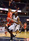 March 11, 2013  (Washington, DC)  Brandon Boykin #15, of the Ballou Knights, readies for a shot during the inaugural D.C. State Athletics Championship at the Verizon Center March 11, 2013. The Coolidge Knights won 69-47.  (Photo by Don Baxter/Media Images International)