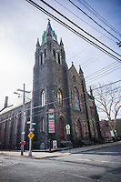 The 1896 Visitation of the Blessed Virgin Mary church in the Red Hook neighborhood of Brooklyn in New York on Saturday, March 12, 2016.  (© Richard B. Levine)