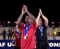 Christopher Nanco. The United States defeated Canada, 3-0, during the final game of the CONCACAF Men's Under 17 Championship at Catherine Hall Stadium in Montego Bay, Jamaica.
