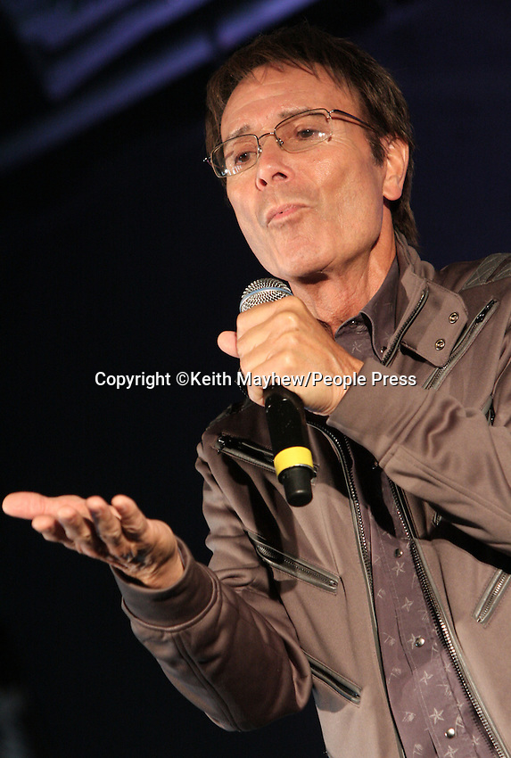 London - Cliff Richard holds Press Conference to announce new album of soul duets in collabaration with Lamont Dozier and David Gest, at Gilgamesh, Camden, London - March 7th 2011..Photo by Keith Mayhew...