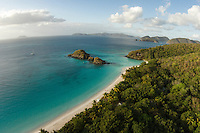 Aerial view of Trunk Bay<br />