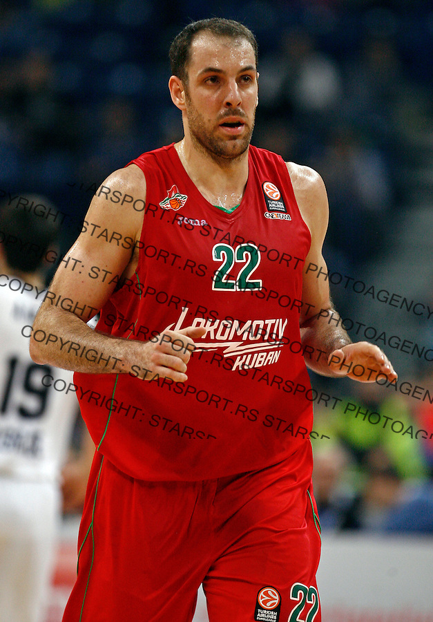 Alex Maric  Euroleague, Evroliga, Partizan - Lokomotiv Kuban Januar 31, 2014. in Belgrade, Serbia (credit image & photo: Pedja Milosavljevic / STARSPORT / +318 64 1260 959 / thepedja@gmail.com)