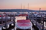Sunrise on Lake Winnepesaukee, Meredith, NH, USA
