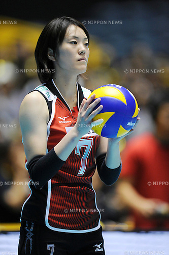 Mai Yamaguchi (JPN), NOVEMBER 3rd, 2010 - Volleyball : 2010 FIVB Women's Volleyball World Championship First Round Pool A match between Japan 3-1 Serbia at Yoyogi 1st Gymnasium in Tokyo, Japan. (Photo by AZUL/AFLO)