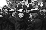 Grunwick Strike North London UK. Police women on picket line at Grunwick. 1977
