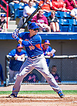 13 March 2014: New York Mets catcher Travis d'Arnaud in action during a Spring Training game against the Washington Nationals at Space Coast Stadium in Viera, Florida. The Mets defeated the Nationals 7-5 in Grapefruit League play. Mandatory Credit: Ed Wolfstein Photo *** RAW (NEF) Image File Available ***