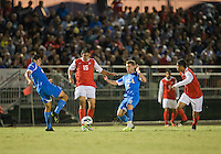 NORTHRIDGE, California - September 22, 2013: The UCLA Bruins defeated CSUN Matadors 4-2 during a NCAA D1 pre season match at Matador Soccer Field.