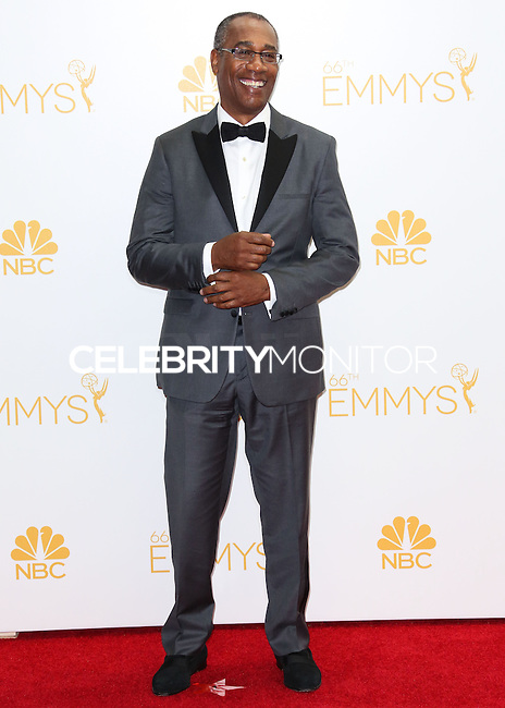 LOS ANGELES, CA, USA - AUGUST 25: Actor Joe Morton poses in the press room at the 66th Annual Primetime Emmy Awards held at Nokia Theatre L.A. Live on August 25, 2014 in Los Angeles, California, United States. (Photo by Celebrity Monitor)