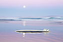 Surfboard and full moon Australia