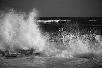 Waves crashing on the shore in East Hampton, New York
